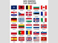 Nato Members Flag Collection Complete Stock Vector Art