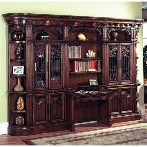 Wall Bookcases by Barcelona Bookcase Wall W Library Desk House
