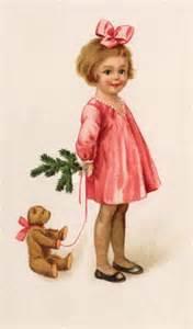 Vintage Little Girl Christmas