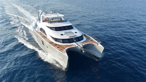 Catamaran Or Boat by Modern Catamaran With 300m2 Living Space By Sunreef