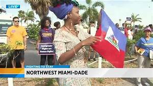 Haitian demonstrators ask immigration authorities to 'Save ...