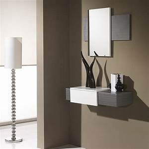 meuble pour hall d entree maison design sphenacom With meuble d entree chaussures 8 miroir design blanc lizea zd1 jpg
