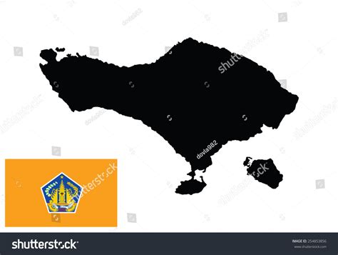 bali vector map isolated  white stock vector