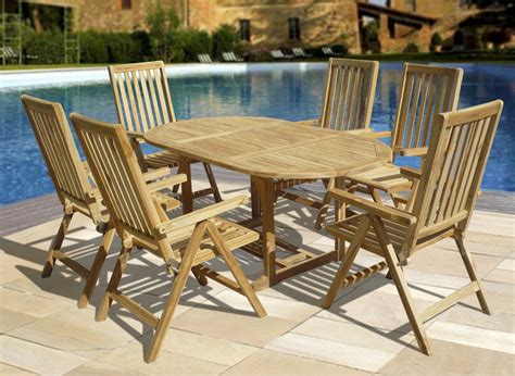teak wood table and chairs outdoor furniture
