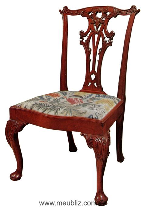 chaise anglaise style anglais chippendale 1754 1770