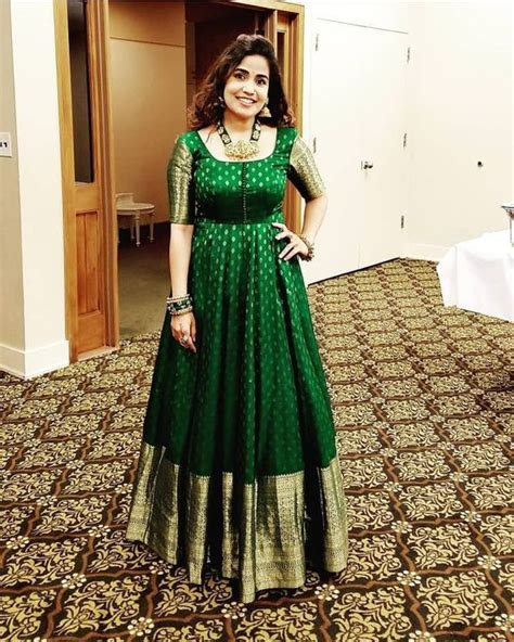 Long Dresses made out of old and Damaged Sarees # ...