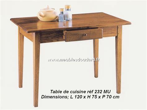 table cuisine chene table de cuisine en chêne ref 232mu