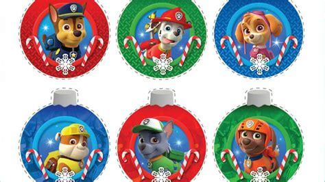paw patrol paw patrol christmas ornaments