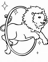 Circus Coloring Pages Lion Printable Clown Preschool Train Getcoloringpages sketch template