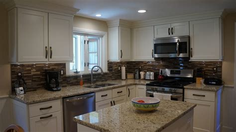 white kitchen with island warwick ri kitchen countertop center of