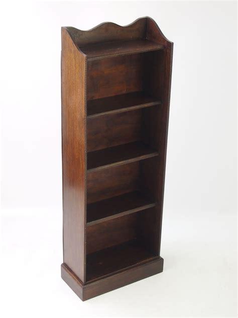 Bookcase Slim by Slim Edwardian Oak Open Bookcase