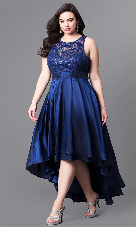 illusion lace high   size prom dress promgirl