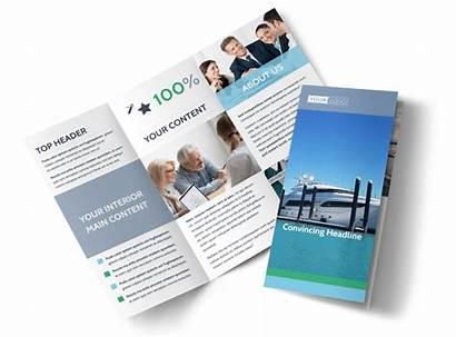 Insurance Brochure Marine Template Tri Fold Templates