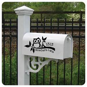 vinyls decals and lettering on pinterest With mailbox letters