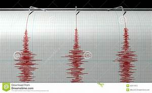 Seismograph Earthquake Activity Stock Illustration