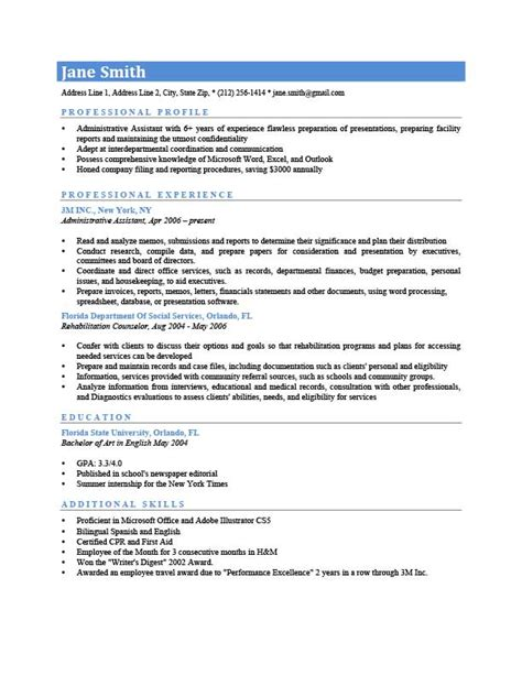 What To Say In Profile Of Resume by Professional Profile Resume Templates Resume Genius