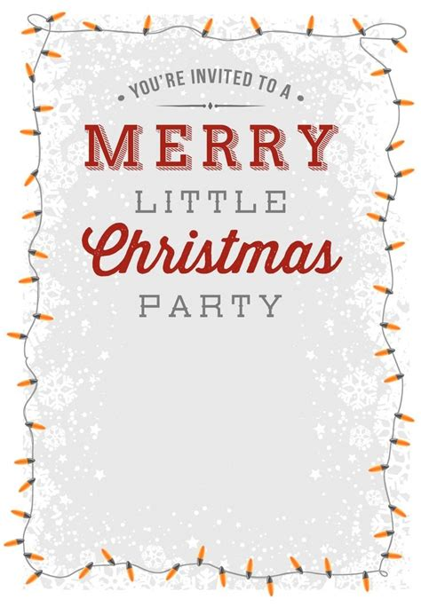 staff christmas lunch invitation template template design