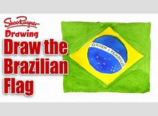 How to draw the Flag of Brazil YouTube