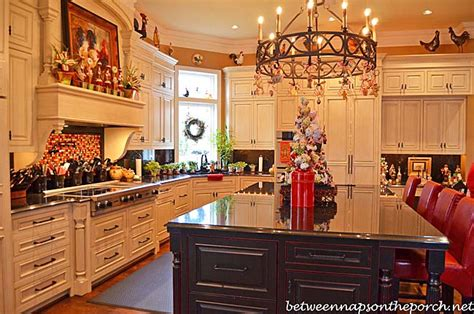 how to decorate your kitchen island kitchen decorated for with peppermint