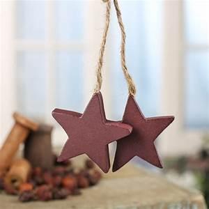 Primitive, Wood, Star, Jute, Trim, Ornament, -, Signs, U0026, Ornaments