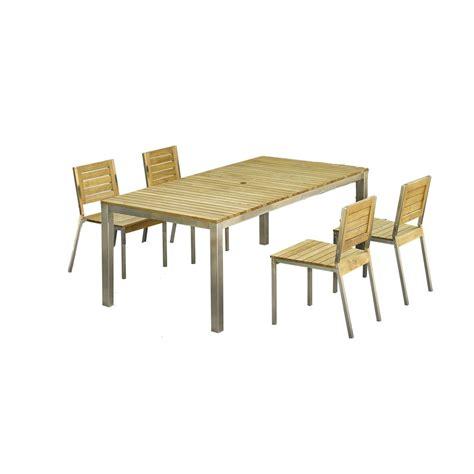 table et chaise de salon salon de jardin robinox bois naturel 1 table 200x100 2
