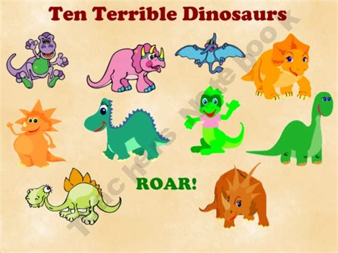 dinosaurs lesson plan for preschool free smartboard interactive for ten terrible dinosaurs by 333