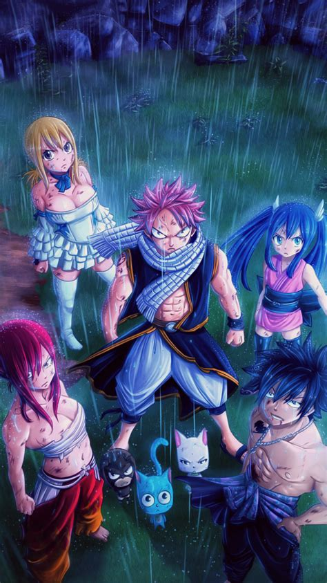 anime fairy tail erza scarlet wendy marvell rain manga