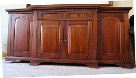 Cherry Wood Buffet Sideboard by Cherry Wood Sideboard Large Vgc Two Side Cupboards