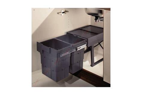 panier coulissant cuisine poubelle coulissante sous évier 2 ou 3 bacs accessoires de