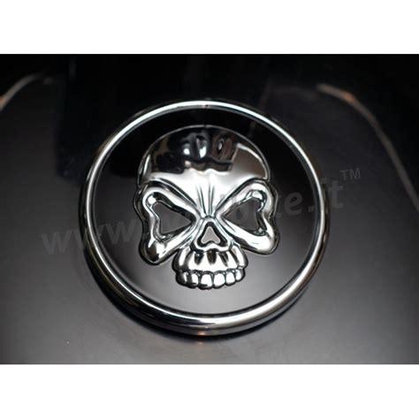 skull gas cap chrome black for harley davidson xl sportster 96 16
