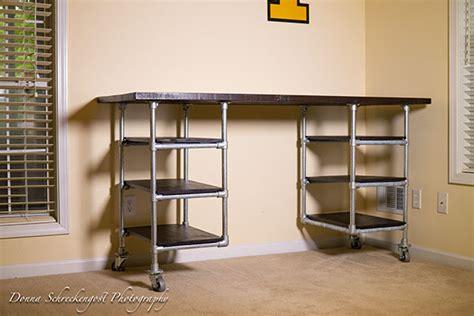 industrial pipe desk shelving plans simplified building