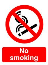 adhesive  smoking health  safety sign ssd