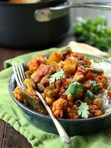 Mixed Vegetable Curry   Veggies and chickpeas are simmered ...