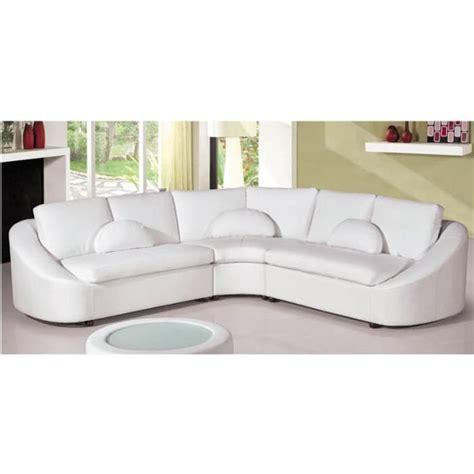 canapé cuir arrondi canapé d 39 angle design en cuir blanc arrondi achat