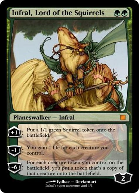 Squirrel Nest Mtg Deck by One Squirrel Two Squirrels 6mil Squirrels Casual Mtg Deck