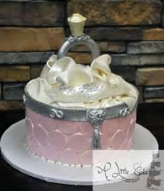 wedding shower cakes bridal shower cake open ring box themed cake a cake