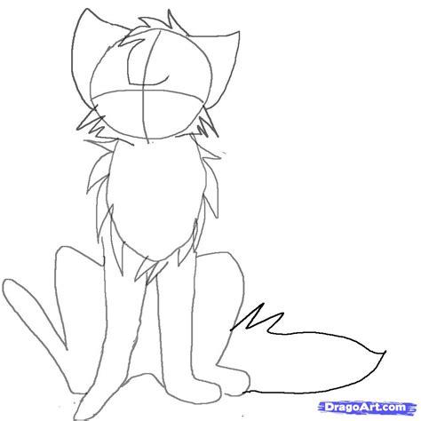 draw  anime cat sitting step  step anime