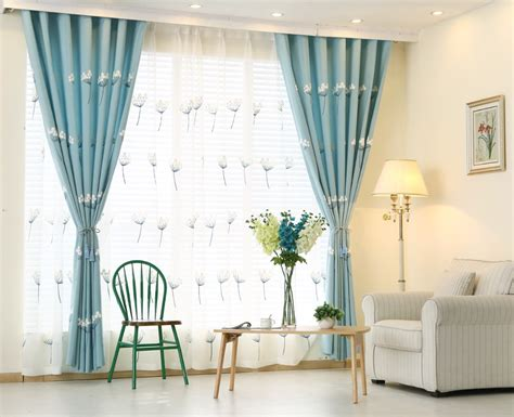 Buy Sky Blue Embroidered Curtains Window Curtain For Bedroom Living Room Solid Another Word For Curtain Holder J Queen New York Lucca Shower Volvo Truck Window Curtains 12 Foot Tension Rod Dunelm Mill Ready Made Linings Insulated Back Tab Panels Over Plantation Shutters Should I Put On French Doors