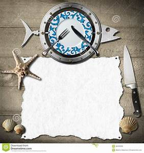 Seafood Menu Background Stock Illustration - Image: 48429930