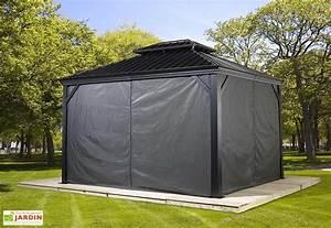 rideaux en polyester gris pour tonnelle messina sojag With rideaux pour tonnelles exterieur 10 construire une tonnelle de jardin