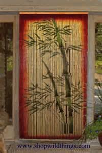Bamboo Beaded Door Curtains Painted by Bamboo Painted Beaded Curtain Zen Decor Door