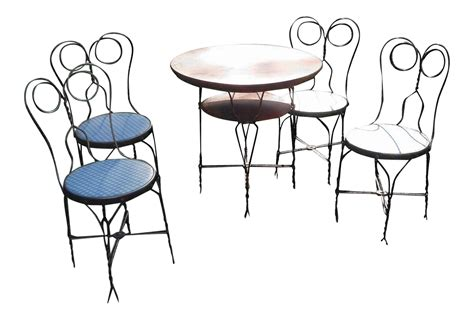 ice cream parlor table vintage ice cream parlor table set 5 pieces chairish