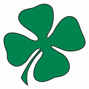 Clip Art: Green Four-Leaf Clover - Shamrock - St. Patrick ...