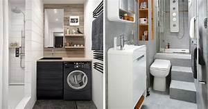 Aménager Une Petite Salle De Bain : am nagement petite salle de bain 34 id es copier ~ Melissatoandfro.com Idées de Décoration