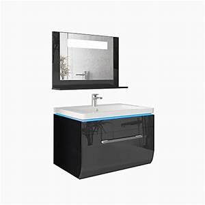 Badmöbel Schwarz Hochglanz : badm bel set badezimmer waschbecken spiegel led waschtisch schwarz hochglanz m bel24 ~ Indierocktalk.com Haus und Dekorationen