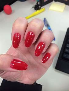 Rimmel London (Stiletto Red) Oval Nails Red Nails | Pin's ...