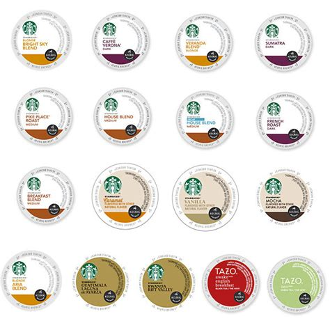Visit us to see our available k cup pod flavors. Starbucks Coffee & Tea K-CUPS, Pick Yr Own Flavors & Count ...