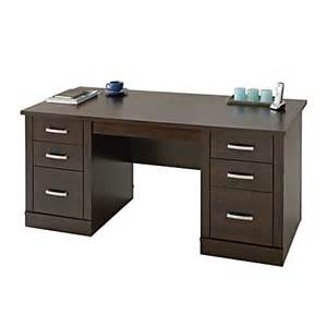 sauder office port executive desk alder by office depot officemax