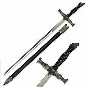 Roaring Wolf Fantasy Sword With Scabbard BUDK com