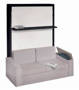 23 best lit escamotable images on pinterest murphy beds With armoire lit escamotable canapé
